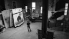 Julian Schnabel en su estudio de Nueva York 1994