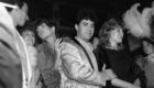 1982.Imanol Arias, Pedro Almodovar, Cecilia Roth, Elñga Line y Cristina Sanchez Pascual